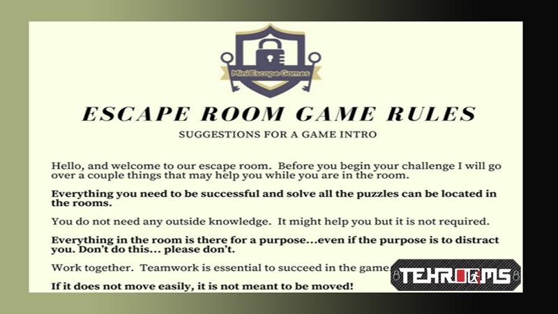 اصول و قواعد بازی اتاق فرار